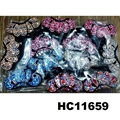 fashion women colored crystal stone plastic hair claw clips wholesale 6