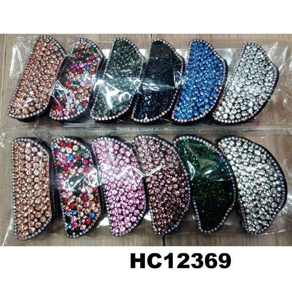 fashion women colored crystal stone plastic hair claw clips wholesale 7