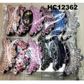 fashion women colored crystal stone plastic hair claw clips wholesale