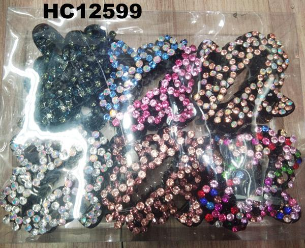 fashion women colored crystal stone plastic hair claw clips wholesale 15