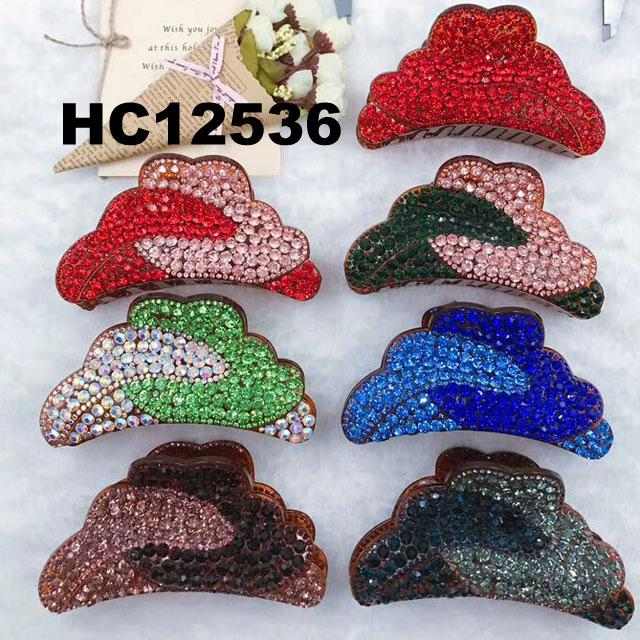 fashion women colored crystal stone plastic hair claw clips wholesale 17