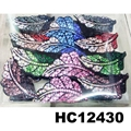 fashion women colored crystal stone plastic hair claws clips wholesale 3