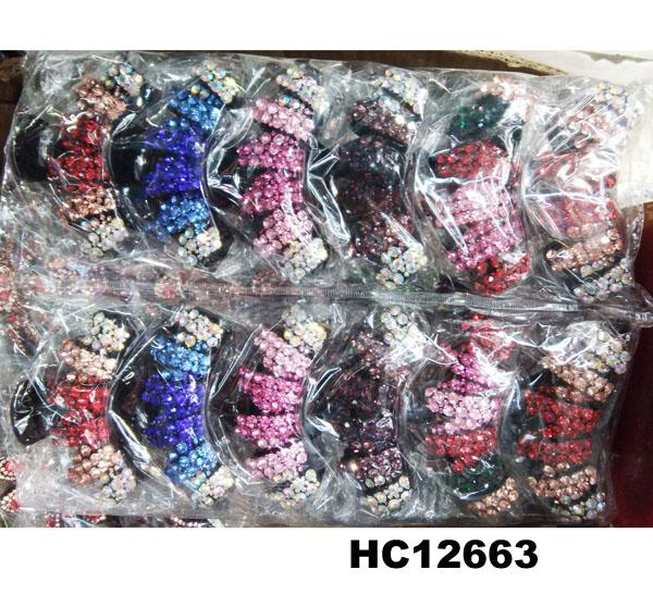 fashion women colored crystal stone plastic hair claws clips wholesale 13