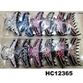 fashion women colored crystal stone plastic hair claws clips wholesale 16