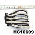 wholesale fancy women crystal stone side claw plastic hair clips 4