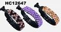 wholesale fancy women crystal stone side claw plastic hair clips 12