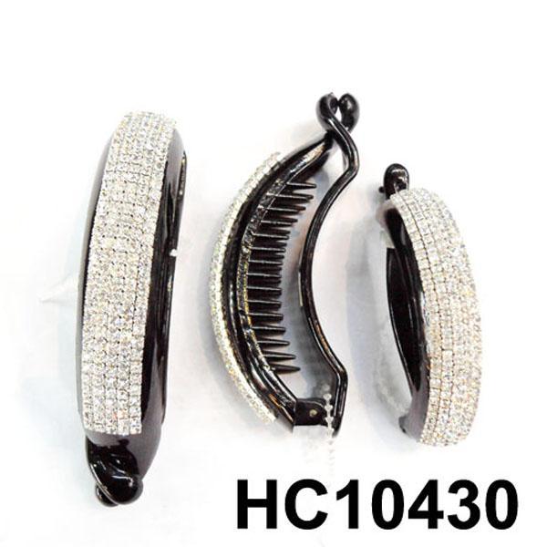 wholesale fancy women crystal stone side claw plastic hair clips 14