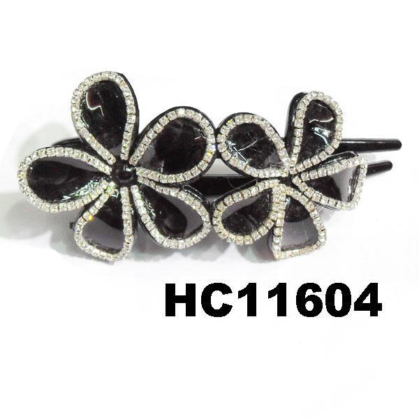 wholesale fancy women crystal stone side claw plastic hair clips 15