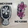 wholesale fancy women crystal stone side claw plastic hair clips 16