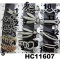 wholesale fancy women crystal stone side claw plastic hair clips 18
