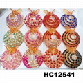 women crystal stone ponytail round plastic hair clips wholesale