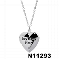 custom fashion I love you letters engraved metal pendant necklace 3