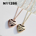 custom fashion I love you letters engraved metal pendant necklace 6