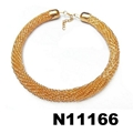 fashion women girls boys gold tone metal choker necklace wholesale