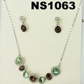 fashion women crystal stone diamond jewelry set wholesale