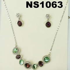 fashion women crystal stone diamond jewelry set wholesale