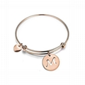 custom girls women engraved metal charm bracelet