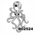 fashion men women crystal stone octopus