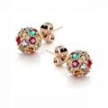 wholesale fashion girls women crystal ball ear studs