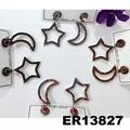 fashion women girls crystal moon star stud earrings wholesale