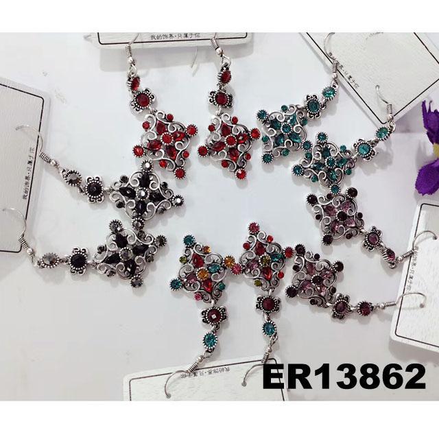 fashion women antique crystal dangling earrings wholesale 1