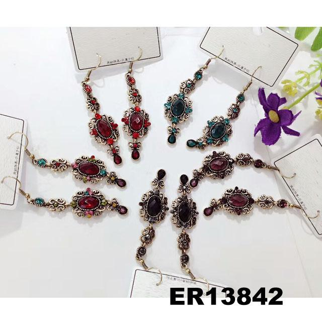 fashion women antique crystal dangling earrings wholesale 5