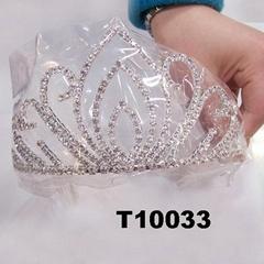 wholesale fashion glitter crystal rhinestone stone tiaras crown