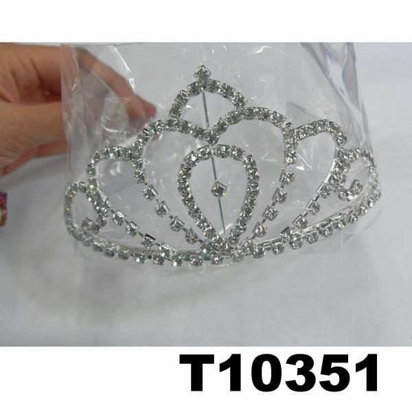 wholesale fashion glitter crystal rhinestone stone tiaras crown 5