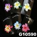 wholesale girls kids foam hawaii flower hair clip 3