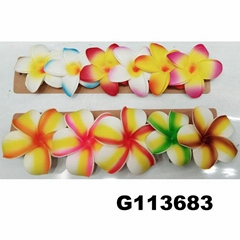 wholesale girls kids foam hawaii flower hair clip