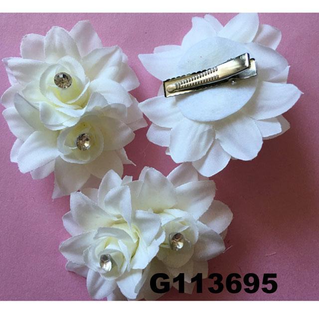 wholesale girls kids foam hawaii flower hair clip 8