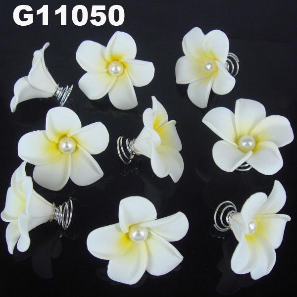 wholesale girls kids foam hawaii flower hair clip 9