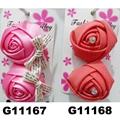 women girls kids satin rose flower hair clips wholesale