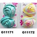 women girls kids satin rose flower hair clips wholesale 3