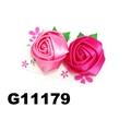 women girls kids satin rose flower hair clips wholesale 6
