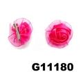 women girls kids satin rose flower hair clips wholesale 7