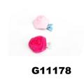 women girls kids satin rose flower hair clips wholesale 12