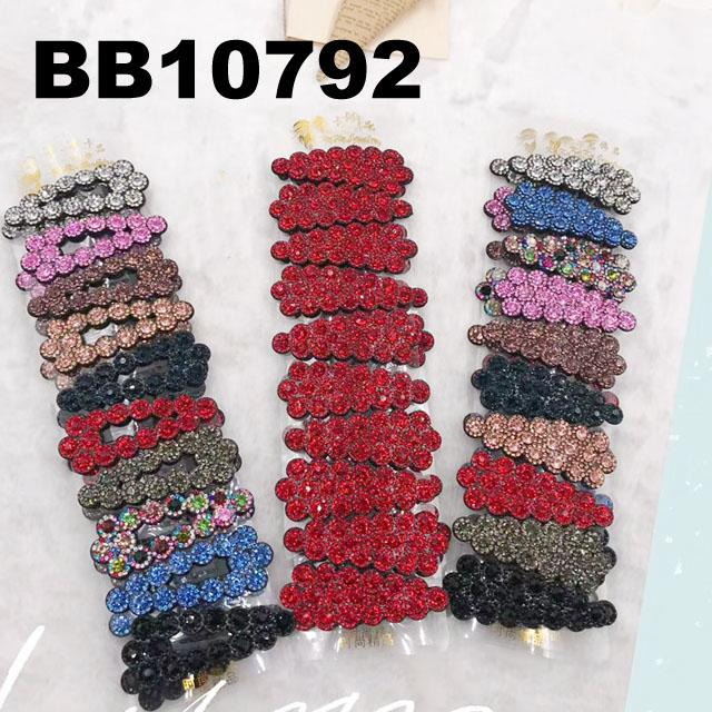 fashion crystal wide hairgrip hair clips wholesale 6