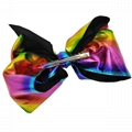 wholesale kids girls leather hair bow clips 3