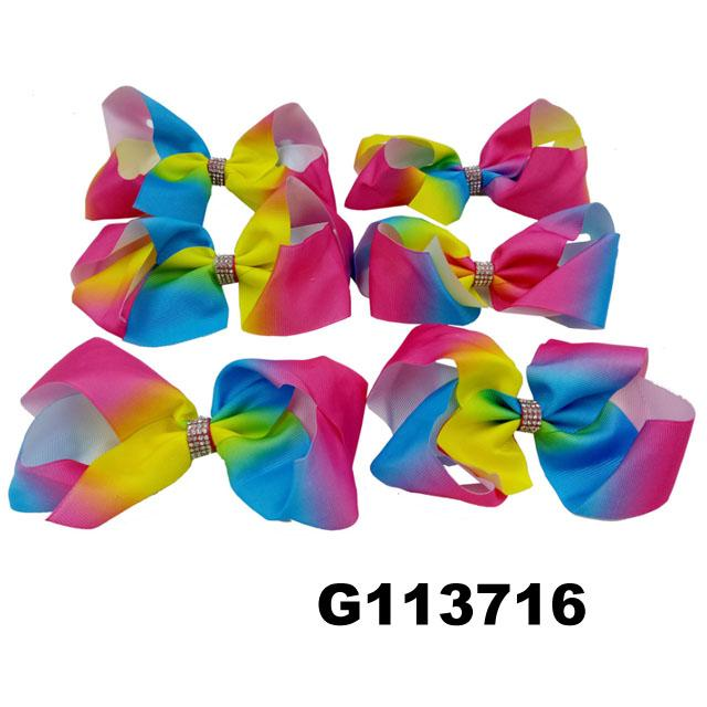 wholesale kids girls leather hair bow clips 7