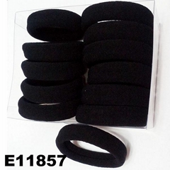 women girls daily use black nylon hair band wholesale