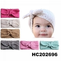 baby girls wool crochet knit headbands wholesale 1