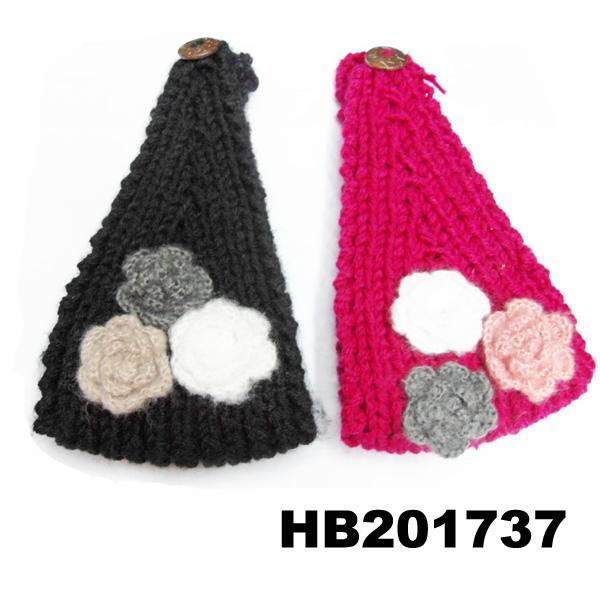 baby girls wool crochet knit headbands wholesale 12