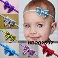 baby girl sequin butterfly elastic baby headband wholesale