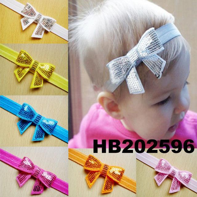 baby girl sequin butterfly elastic baby headband wholesale 5