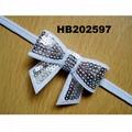 baby girl sequin butterfly elastic baby headband wholesale 2