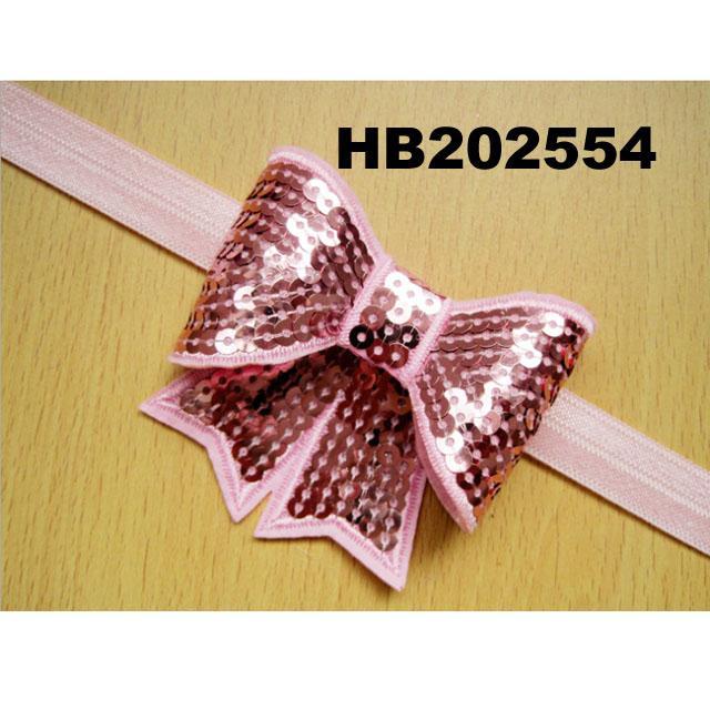 baby girl sequin butterfly elastic baby headband wholesale 4