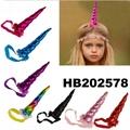 wholesale baby girls kids doll flower rabbit ear unicorn horn headband  3