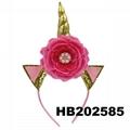 wholesale elastic unicorn horn head band 7