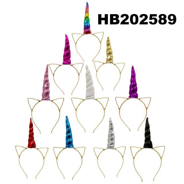 wholesale elastic unicorn horn head band 11